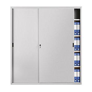 Armadi metallici alti con ante scorrevoli - Colore grigio chiaro - Dimensioni cm 180 x 45 x 200