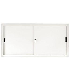 Armadi metallici bassi con ante scorrevoli - Colore bianco - Dimensioni cm 120 x 45 x 85