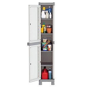 L'armoire haute 1 porte Domino en résine