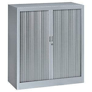 Armoire métal Classtout Color à rideaux - L. 90 x H. 100 cm  - Corps Aluminium, Rideaux Aluminium