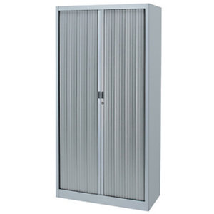 Armoire métal Classtout Color - A rideaux - L. 90 x H. 180  cm - Corps Aluminium  - Rideaux Aluminium