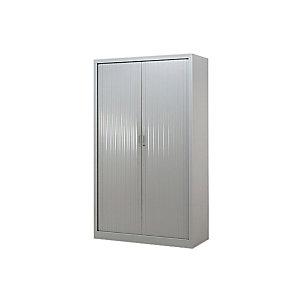 Armoire métal à rideaux - H.200 x L.120 cm - Corps Gris - Rideaux Gris
