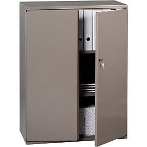 Armoire métal Starting Color, portes battantes - H. 105 x L. 80 cm - Taupe nacré