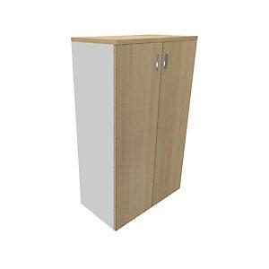 Armoire portes battantes Moka - H.133 x L.80 cm - Chêne clair