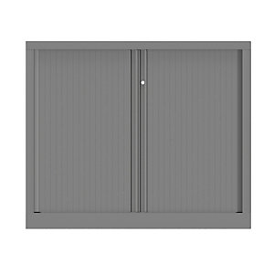 Armoire à rideaux métallique Confort+ Ht 100 x L.120 cm - corps Aluminium rideaux Aluminium