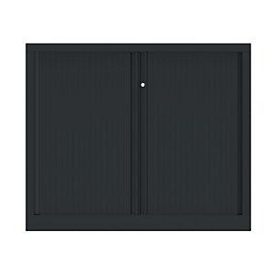 Armoire à rideaux métallique Confort+ Ht 100 x L.120 cm - corps Anthracite rideaux Anthracite