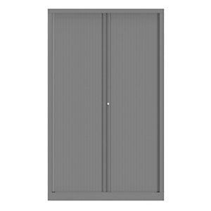 Armoire à rideaux métallique Confort+ Ht 198 x L.120 cm - corps Aluminium rideaux Aluminium