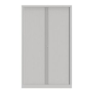 Armoire à rideaux métallique Confort+ Ht 198 x L.120 cm - corps Blanc rideaux Blancs