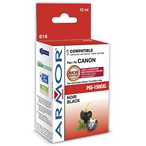 ARMOR Cartouche d'encre remanufacturée, compatible pour CANON PGI-1500XL - Noir