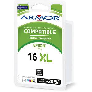 ARMOR Cartouche d'encre remanufacturée, compatible pour EPSON 16XL - Noir