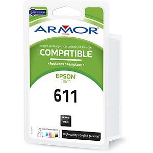 ARMOR Cartouche d'encre remanufacturée, compatible pour EPSON T0611 - Noir