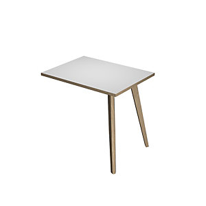 ARTEXPORT FLORENCE ITALY Ala adicional para mesa de oficina Woody, 60 x 80 x 74,4 cm, pata madera, color blanco / roble