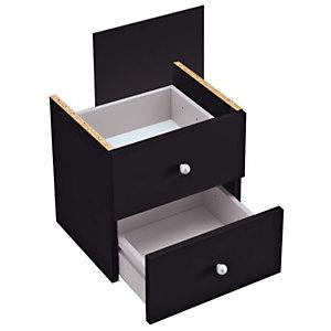 ARTEXPORT FLORENCE ITALY Cajones negro Maxicolor, pack de 2