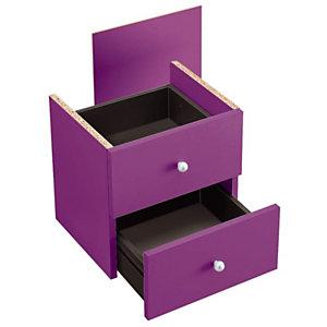 ARTEXPORT FLORENCE ITALY Cajones violeta Maxicolor, pack de 2