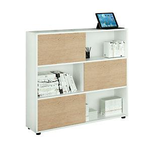 ARTEXPORT FLORENCE ITALY Estantería modular mediana Sliding, 120 x 35 x 116,2 cm, color blanco / roble