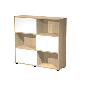 ARTEXPORT FLORENCE ITALY Estantería modular mediana Sliding, 120 x 35 x 116,2 cm, color roble / blanco