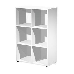 ARTEXPORT FLORENCE ITALY Estantería modular Woody, 6 compartimentos, 80 x 40 x 121,6 cm, color blanco