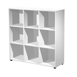 ARTEXPORT FLORENCE ITALY Estantería modular Woody, 9 compartimentos, 119 x 40 x 121,6 cm, color blanco