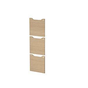 ARTEXPORT FLORENCE ITALY Lote de 3 Puertas para estantería modular Woody, 36,8 x 36, 8 cm, color roble