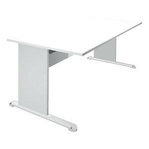 ARTEXPORT FLORENCE ITALY Mesa recta con patas tipo L 140 cm blanco/aluminio Europa