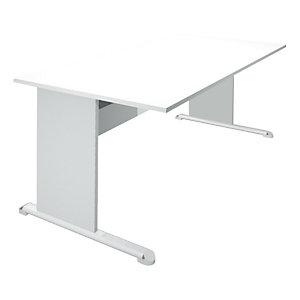 ARTEXPORT FLORENCE ITALY Mesa recta con patas tipo L 80 cm blanco/aluminio Europa