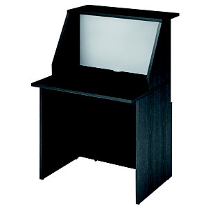 ARTEXPORT FLORENCE ITALY Mostrador de recepción recto 80 cm negro/blanco