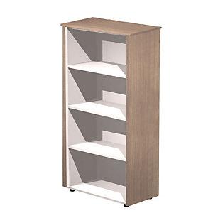 ARTEXPORT FLORENCE ITALY Mueble alto Executive, color nogal / aluminio, 82,8 x 43 x 158,2 cm