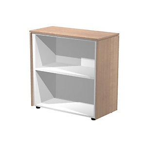 ARTEXPORT FLORENCE ITALY Mueble bajo Executive, 82,8 x 43 x 81,4 cm, color nogal / aluminio