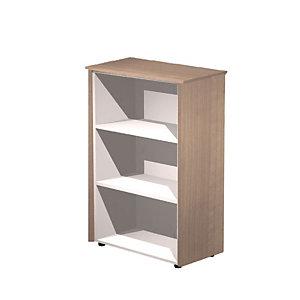 ARTEXPORT FLORENCE ITALY Mueble mediano Executive, 82,8 x 43 x 119,8 cm, color nogal / aluminio