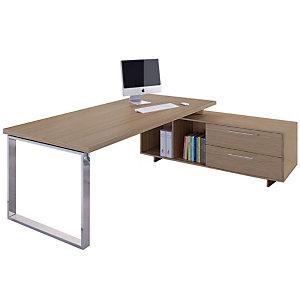 ARTEXPORT FLORENCE ITALY Puesto de dirección Executive, mesa de dirección y mueble auxiliar, color nogal