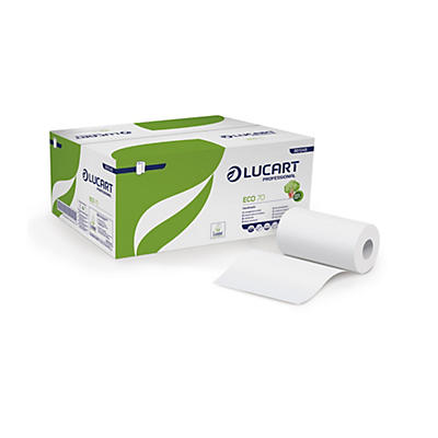Asciugamani di carta in rotolo pretagliato Eco 70 Lucart