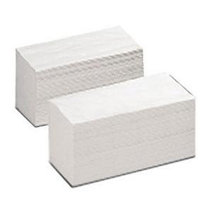 Asciugamano di carta piegato, 3 veli, 300 fogli, Con superficie in rilievo, 210 mm, Bianco
