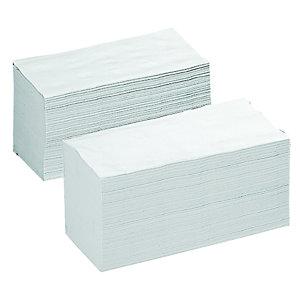 Asciugamano di carta piegato, 4.000 pezzi, 250 mm, Bianco (confezione 4.000 pezzi)