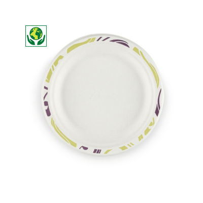 Assiette carton moulé 100% recyclé Chinet®