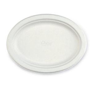 Assiette ovale en carton moulé Chinet®