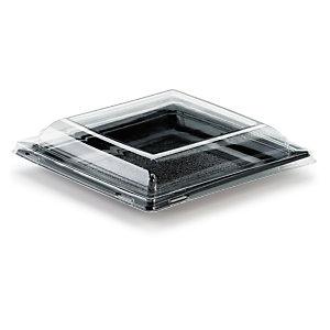 Assiette plastique carrée couleur petit format Quadripack