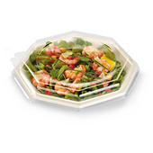 Assiette plastique octogonale couleur petit format Octopack