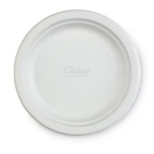 Assiette ronde en carton moulé 100% recyclé Chinet®