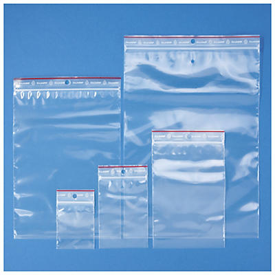 Assortiment de 500 sachets plastique zip 100 microns RAJA