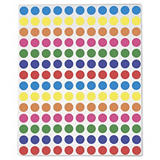 Assortiment gekleurde ronde etiketten