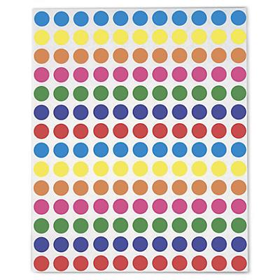 Assortiment de pastilles couleur##Assortiment gekleurde ronde etiketten