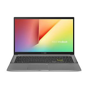 "Asustek ASUS VivoBook S15 S533EA-BN149T - Ordenador Portátil de 15.6"" Full HD (Intel Core i5-1135G7, 8GB RAM, 512GB SSD, Intel Iris Xe Graphics, Windows 10 Home) Negro Indie-Teclado QWERTY español, Intel® Core""! i5 de 11ma Generación, 2,4 GHz, 39,6 cm (15"