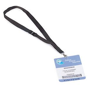 Attache pour badge : enrouleur ou lacet textile