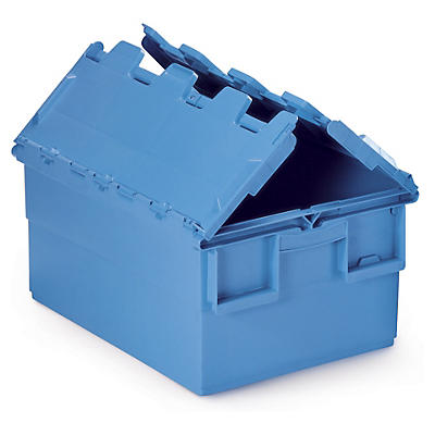 Attached lid plastic storage containers