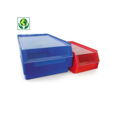 Auflagedeckel für Sichtlagerkästen farbig
