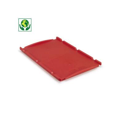 Auflagedeckel für Sichtlagerkästen und Stapelbehälter