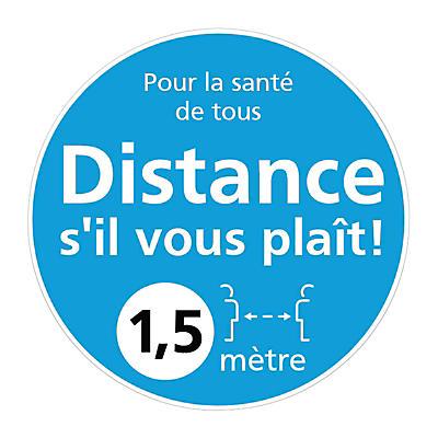 Autocollant pour fenêtre distanciation sociale 1,5 m##Raamsticker voor social distancing 1,5 m