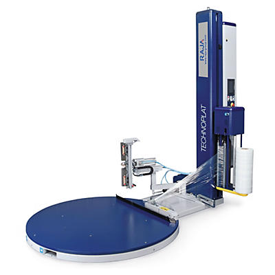 Banderoleuse automatique à plateau rotatif##Automatischer Palettenwickler mit Drehteller