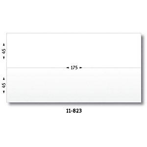 Avery 11-823 - 1000 étiquettes d'affranchissement blanches adhésives - 175 x (2x45) mm