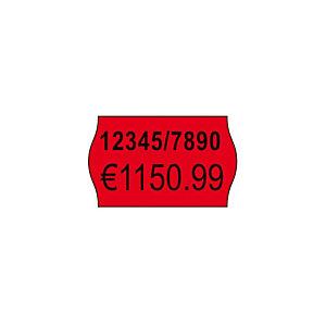 AVERY 2-regelige permanente etiketten voor prijstang, rood